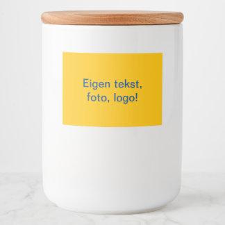Labels Glazen Pot uni Geel