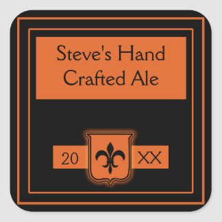 Labels to Customize for Home Brew Square Stickers