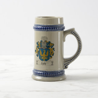 Labia Family Crest Beer Stein