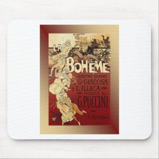 LaBoheme ~ Puccini Opera 1896 w/Background Mousepads