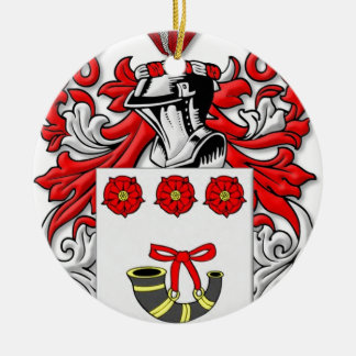 Labonte Coat of Arms Double-Sided Ceramic Round Christmas Ornament