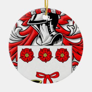 Labonte Coat of Arms Round Ceramic Decoration