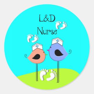 Labor and Delivery Nurse Nurse Birds Sticker
