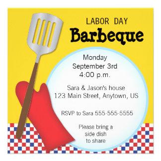 Labor Day Barbaque Invitation