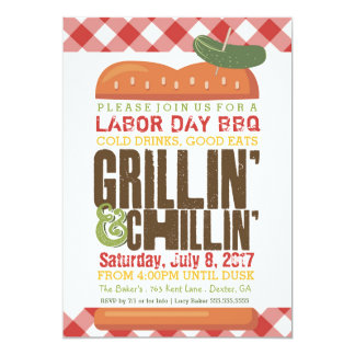 Labor Day BBQ, Backyard Barbecue, Holiday BBQ Card