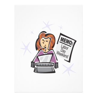 Labor Day Memo 21.5 Cm X 28 Cm Flyer