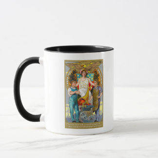 Labor Day Souvenir Laborers with Lady Justice Mug