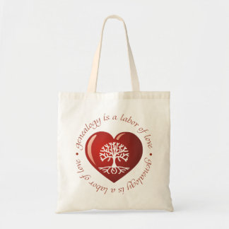 Labor of Love Heart Canvas Bag