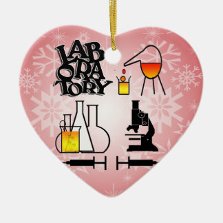 LABORATORY 4 SQUARE LOGO CERAMIC HEART DECORATION
