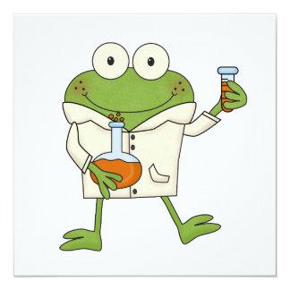 Laboratory Frog 13 Cm X 13 Cm Square Invitation Card