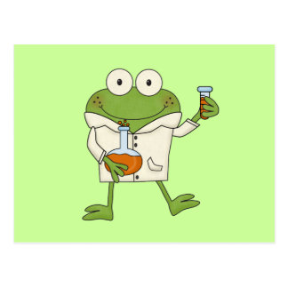 Laboratory Frog Post Card