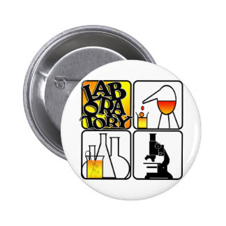 LABORATORY LOGO 4 SQUARE - LAB ICONS 6 CM ROUND BADGE