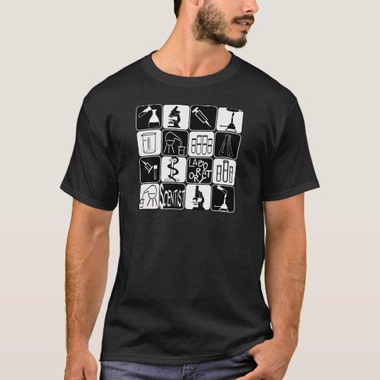 LABORATORY SCIENTIST SYMBOLS AND TOOLS T-Shirt