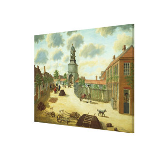 Laboratory Square Canvas Print