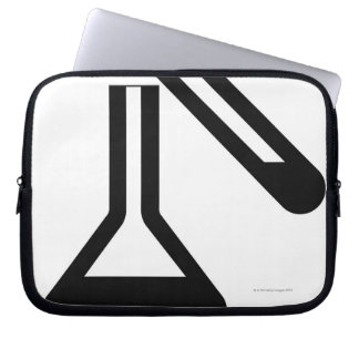 Laboratory symbol against white background laptop sleeve