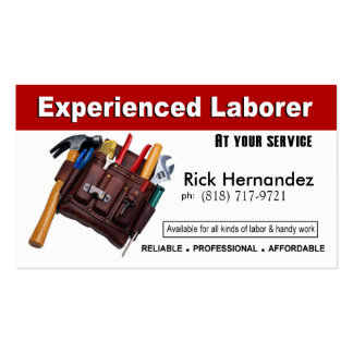 Laborer Handyman Home Repair Construction Pack Of Standard Business Cards