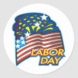 Labour Day Round Stickers