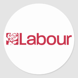 Labour Party Logo Round Sticker