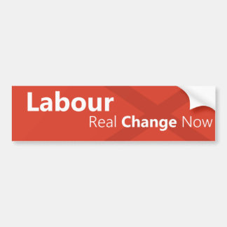 Labour Real Change Now Logo Bumper Sticker