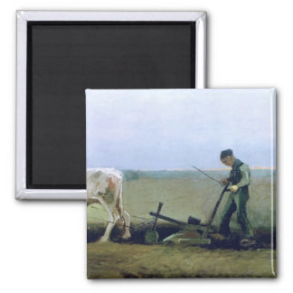 Labourer and Peasant Planting Potatoes, 1884 Refrigerator Magnets