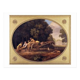 Labourers, 1781 (enamel on biscuit earthe postcard