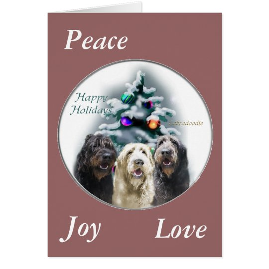 Labradoodle Christmas Gifts Card