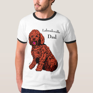 Labradoodle Dad Men's Ringer T-Shirt