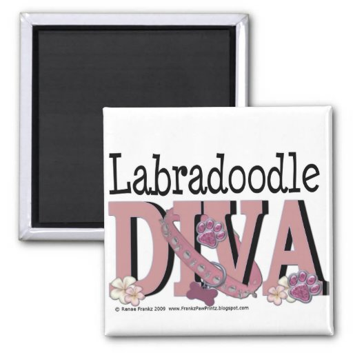 LabraDoodle DIVA Square Magnet