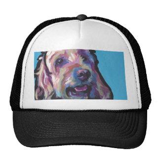Labradoodle Dog fun bright pop art Cap
