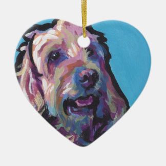 Labradoodle Dog fun bright pop art Christmas Ornament