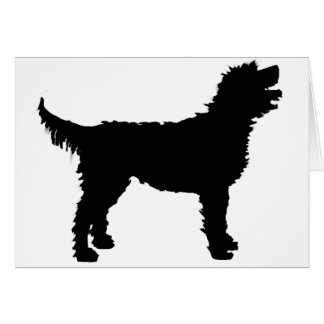 Labradoodle Dog (in black) Greeting Card