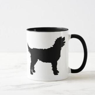 Labradoodle Dog (in black) Mug