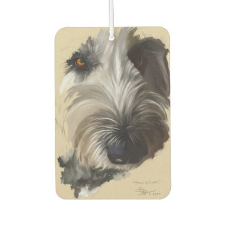 Labradoodle Dog Painting Car Air Freshner Car Air Freshener