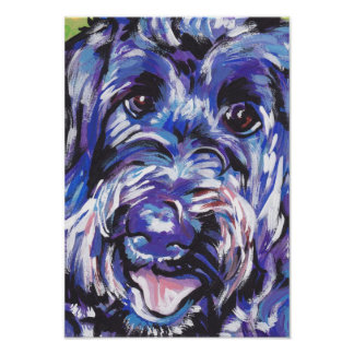 Labradoodle Dog Pop Art Poster