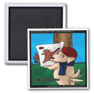 Labradoodle Funny Gifts Tees Mugs Cards Etc Square Magnet