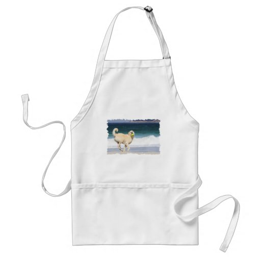 Labradoodle - Happy Day on the Beach Aprons