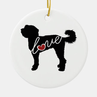 Labradoodle Love Christmas Ornament