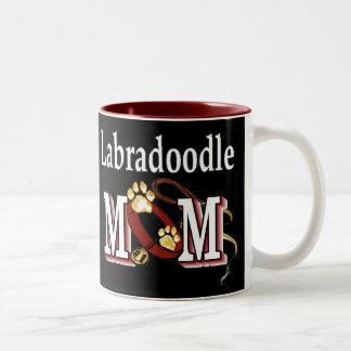Labradoodle MOM Gifts Two-Tone Coffee Mug