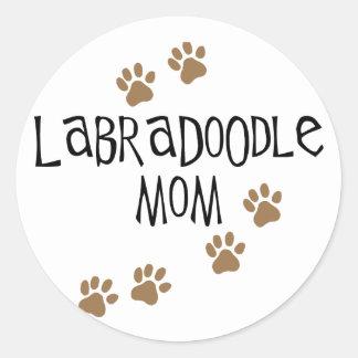 Labradoodle Mom Round Sticker