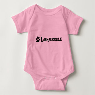 Labradoodle (pirate style w/ pawprint) baby bodysuit