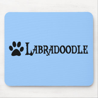 Labradoodle (pirate style w/ pawprint) mouse pad