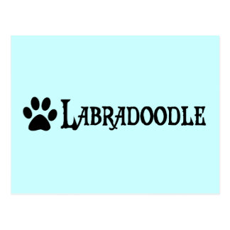 Labradoodle (pirate style w/ pawprint) postcards