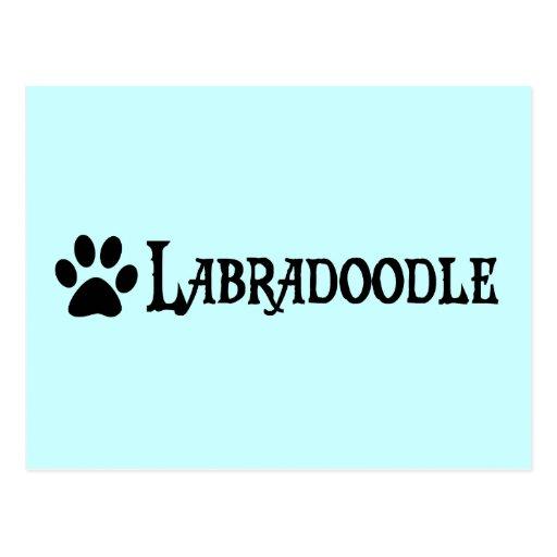 Labradoodle (pirate style w/ pawprint) postcards