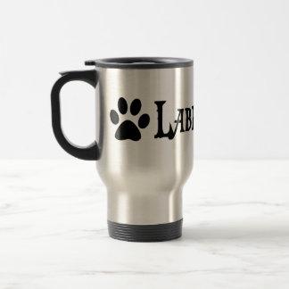 Labradoodle (pirate style w/ pawprint) stainless steel travel mug