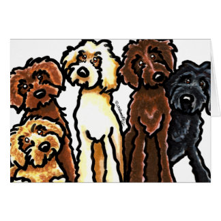 Labradoodle Rainbow Blank Note Card