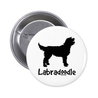 Labradoodle w/ Cool Text 6 Cm Round Badge