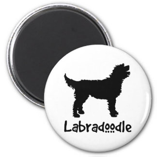 Labradoodle w/ Cool Text 6 Cm Round Magnet