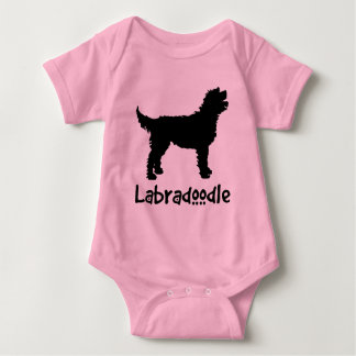 Labradoodle w/ Cool Text (in black) Baby Bodysuit