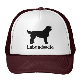 Labradoodle w/ Cool Text (in black) Cap