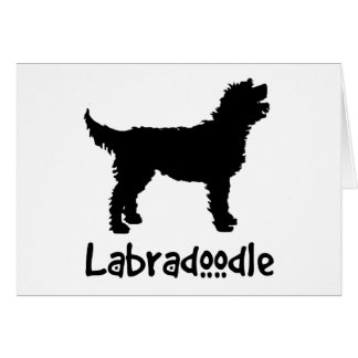 Labradoodle w/ Cool Text (in black) Greeting Card